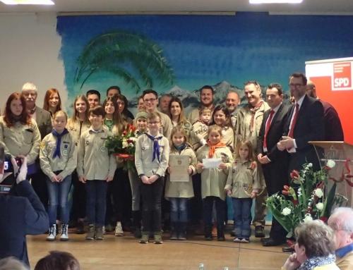 Verleihung des Bürgerpreises 2020 an die DPSG Rehlingen in Niedaltdorf